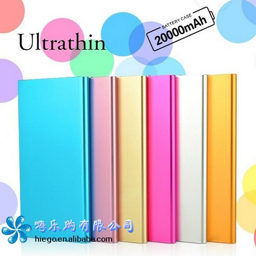 Portable mobile power supply ultra-thin power bank 20000mah