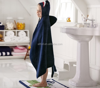 hot products cartoon animal velvet fiber factory supplier baby bath hooded towel