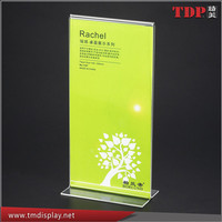 Acrylic Table Tents Sign Holder, T-style - Clear