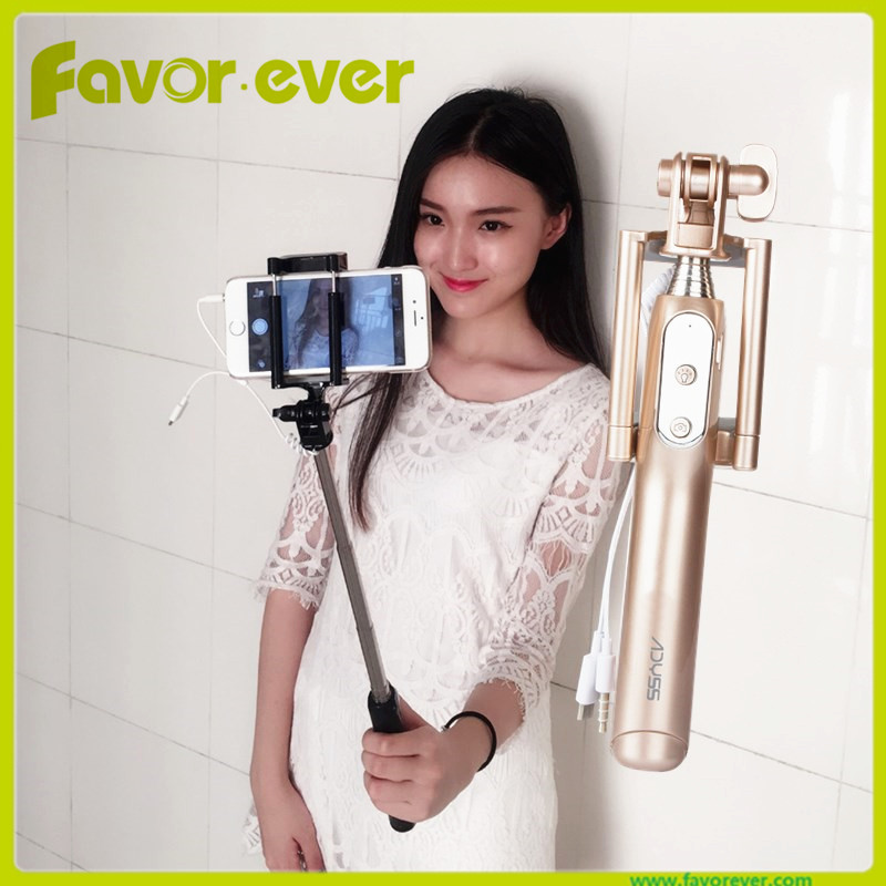 Favorever fashion selfie stick 2017 Night and day take photo with 3 gear LED light