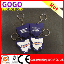 Best promotion small gift soft pvc key chain ring custom logo wholesale PVC material food shape Key Chain for promotion