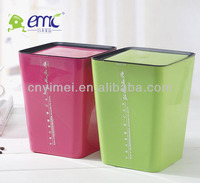 New desk plastic dustbin, plastic dustbin with lids