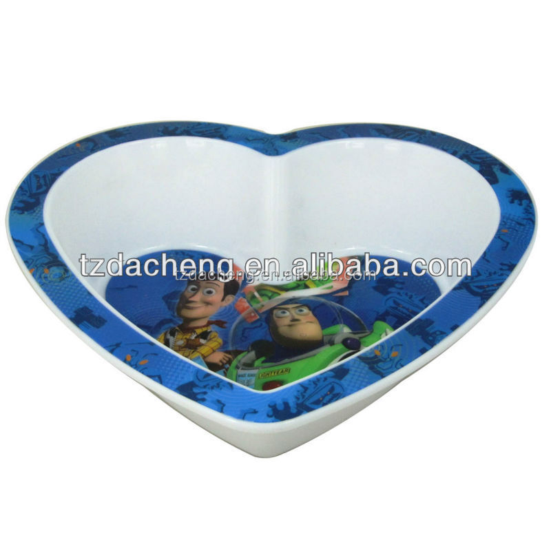 Kids 3D Reusable Plastic small serving trays