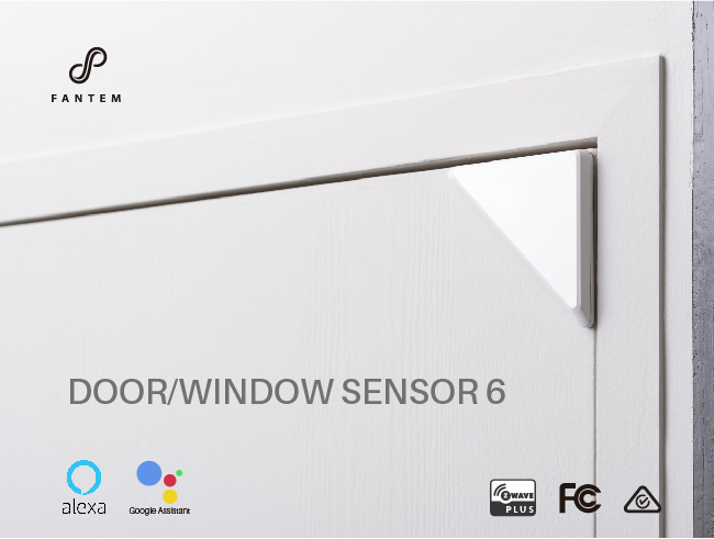 Smart home alarm system wireless z-wave door window remote sensor fin