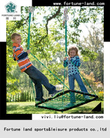 Kids single garden wrought iron swing seat