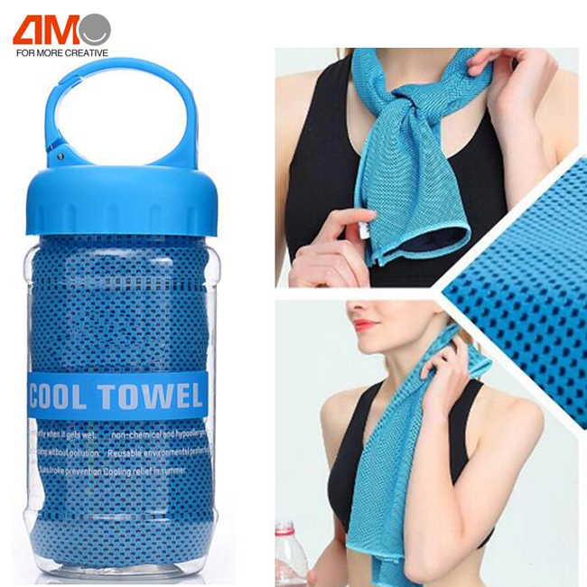 "GYM Custom 100% Microfiber 40"" by 12"" Cooling Fitness Towel"