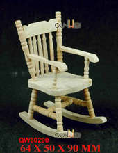 dollhouse miniature furniture wooden rocking chairs doll house wood chairs QW60290