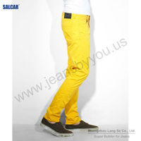 SALCAR men latest design jeans pants colored jeans for business man overstock chinese jeans (LSMPF8037-2)