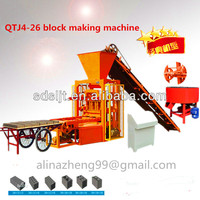 Construction equipment export to South Africa Sanli QTJ4-26 automatic baking-free brick making machine