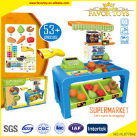The hottest Pretend Play & Preschool toy Supermarket Cashier Desk toy with light and music