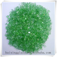 China wholesale color glass sand for Building materials -green
