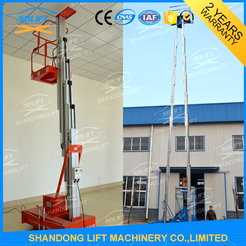 hydraulic vertical auto electric ladder manufacturers for one man