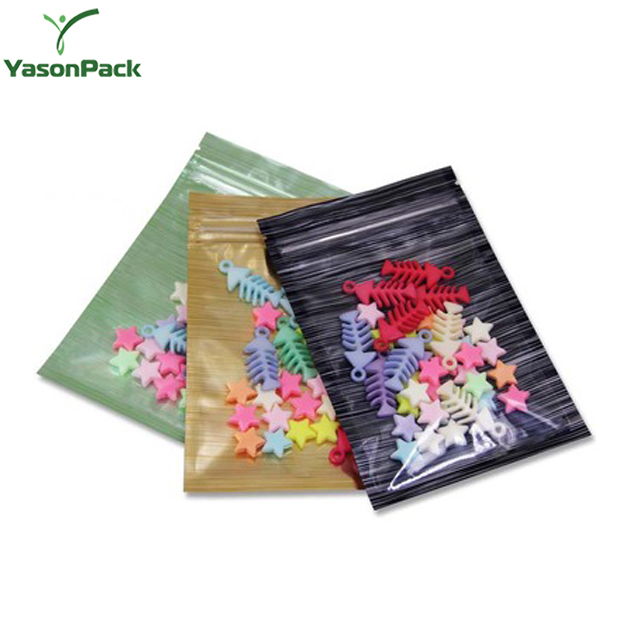 Mylar Three Side Small Clear Safe Plastic Heat Seal Food Packaging Poly Flat Bags With Top