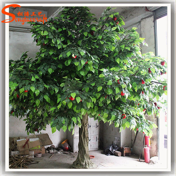 2016 china cheap decorative fake apple tree large trees artificial for outdoor