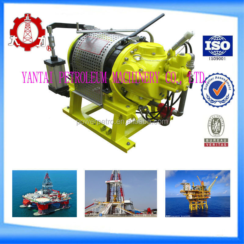 50KN boat drum anchor air winch with double brake