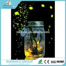 Professional led firefly jar butterfly glass jar with led light electronic firefly with high quality