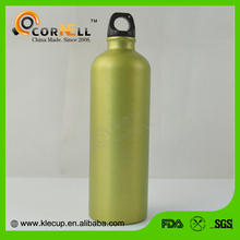 Customized Stainless steel sport metal with Carabiner joyshaker drink water bottle