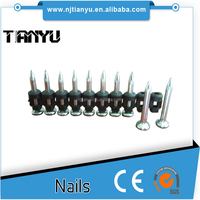 High quality flat head smooth shank concrete nails
