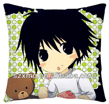 100% polyester custom japanese death note boy print anime pillow case cartoon pillow