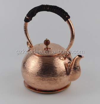 Chinese handcraft traditional copper tea pot hammered polished