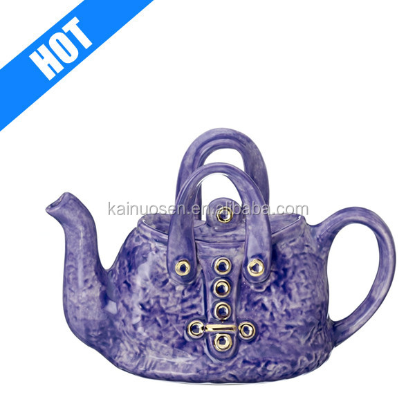 customized handmade painted handbag ceramiclondon teapot for sale