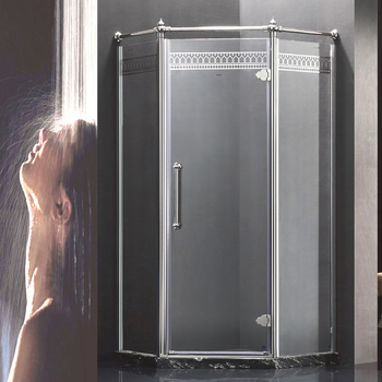 popular diamond shape design self cleaning glass shower enclosures
