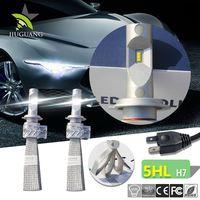 Copper 4000lm h4 fanless 5s led car headlight kit, super bright h7 h11 9005 9006 led auto headlight bulb