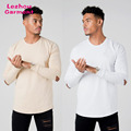 2018 new arrival distressed long sleeve t shirt,private labei t shirt manufacturer