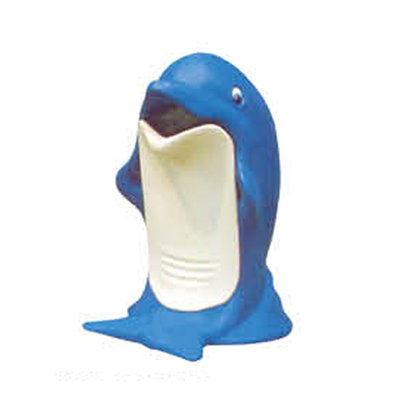 Dolphin design animal shape trash can