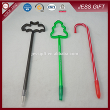 High quality Slim Plastic Christmas Gift advertising plastic wholesale pens