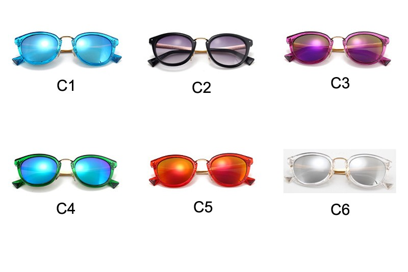 New Fashion Cateye Women Sunglasses Mirror Glasses Cat Eye Women Brand Designer High Quality Sun glasses Outdoor Goggle CC5029