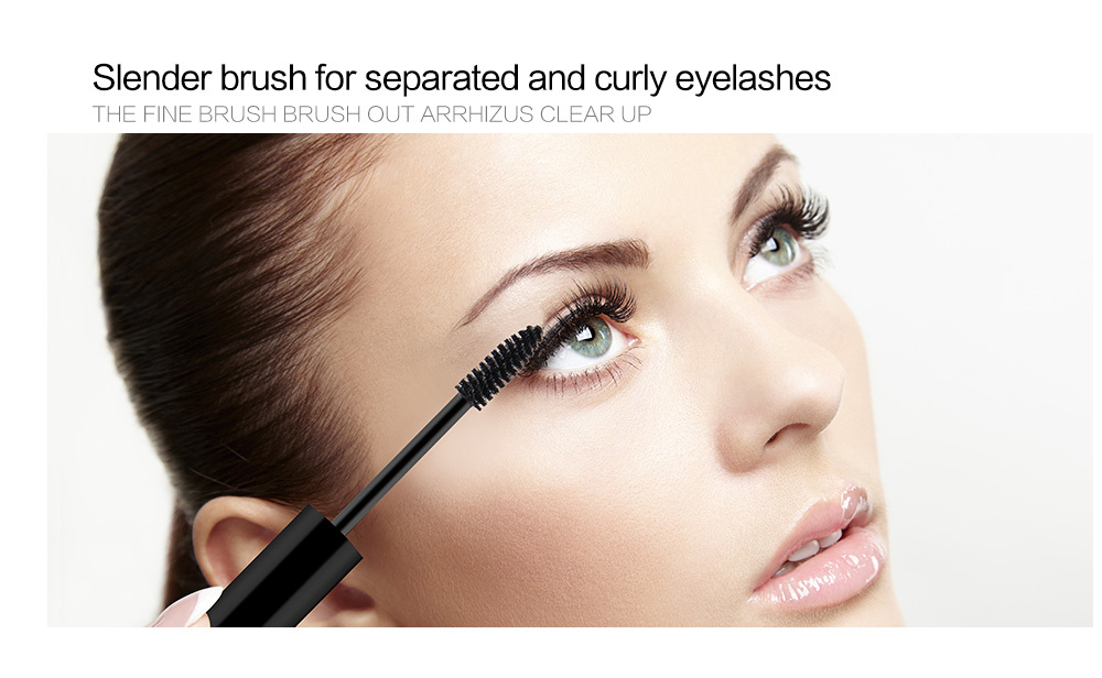 NICEFACE Curling Mascara Natural Quick Dry Liquid 3D Fiber Lashes Mascara Waterproof Black Eyelashes Curling Mascara Brush Pen