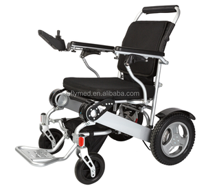 Cheaper light weight foldable power wheelchair with Pneumatic extra-sturdy tire