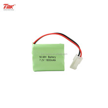 TMK Ni-MH 7.2V AA 1800mAh Rechargeable Battery Pack with UL1007 Wires for RC car Boat Truggy Truck Helicopter with Tamiya Plug
