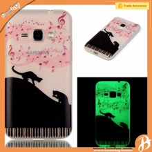 Printing glow tpu phone case for samsung galaxy j1 j120 2016