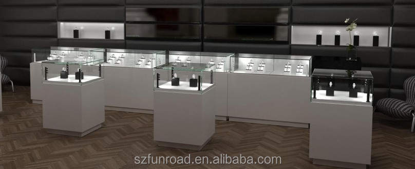 Unique MDF high quality watch display counter for watch retail store