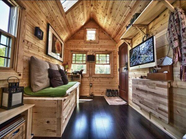 Russian Hawaiian ordinary nice looking on wheels tight camping prefab smart rustic eco cabin wooded tiny wheels  house