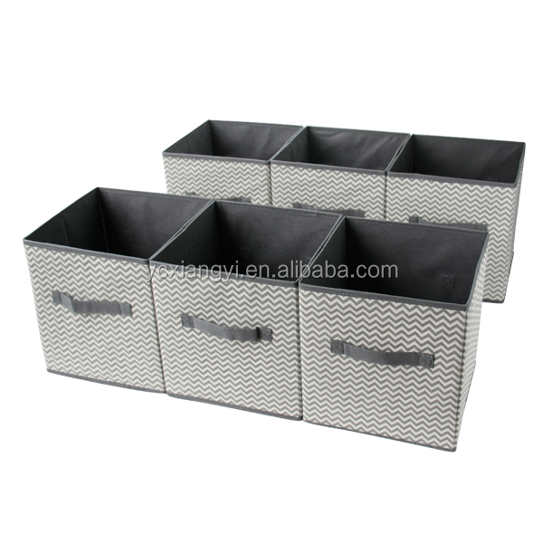Foldable Cube Storage Bins 6 Pack These Decorative Fabric Storage Cubes are Collapsible and Great Organizer for Shelf Closet