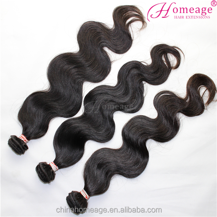 100% remy virgin human hair extension Cheap Unprocessed 8A Body Wave 1B black Raw Peruvian Hair for women