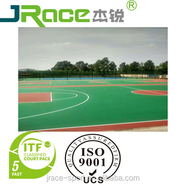 hot sale Silicon pu outdoor basketball court floor paint