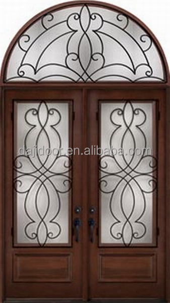 Byzantine Style Double Front Doors With Transom DJ-S9155MWHR-1