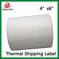 "Zebra 2844 Printer Direct Thermal Shipping Labels, White, 4"" x 6"", 250/roll"