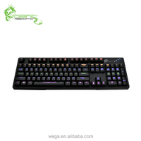 China factory good quality n-keys RGB LED mechanical kailh switches six colors laser print e sports gaming keyboard