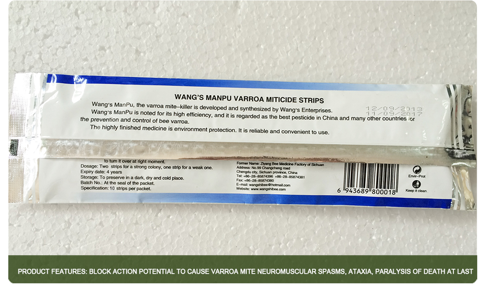 10 Strips Wangshi Fluvalinate Strip China Bee Medicine Bee Drug