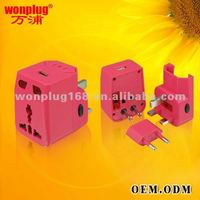 2012 best electronic gift for business partner, world travel adapter for business gift (WP-300A)