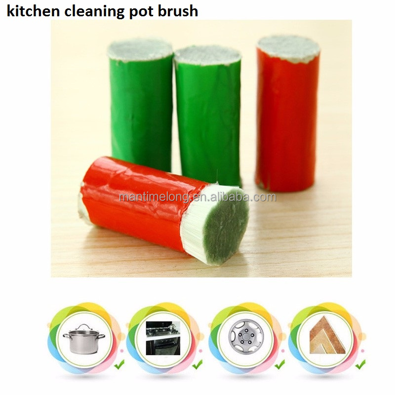 Stainless Steel Cleaning Rod Magic Stick Metal Rust Remover Kitchen Pot Cleaning Brush