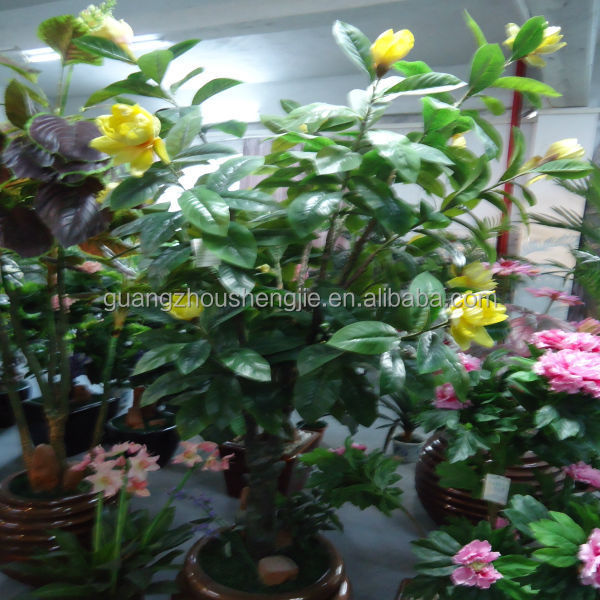 Q090516 China supplier artificial magnolia trees ornamental indoor flower plants