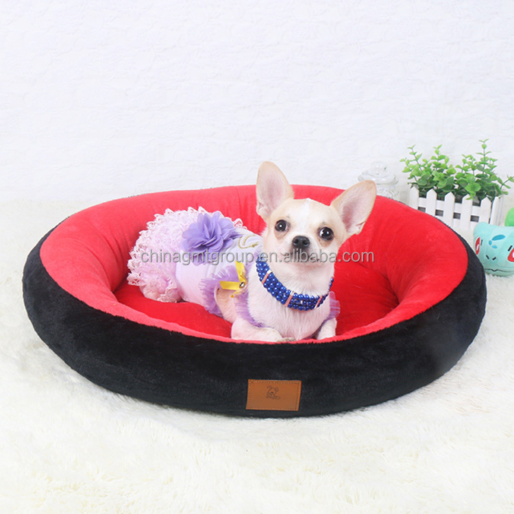 Eco Friendly Comfortable Flannel Fabric GMT06081 Indoor Dog Puppy Pet Pads China Pet Shop Large Round Pet Dog Relax