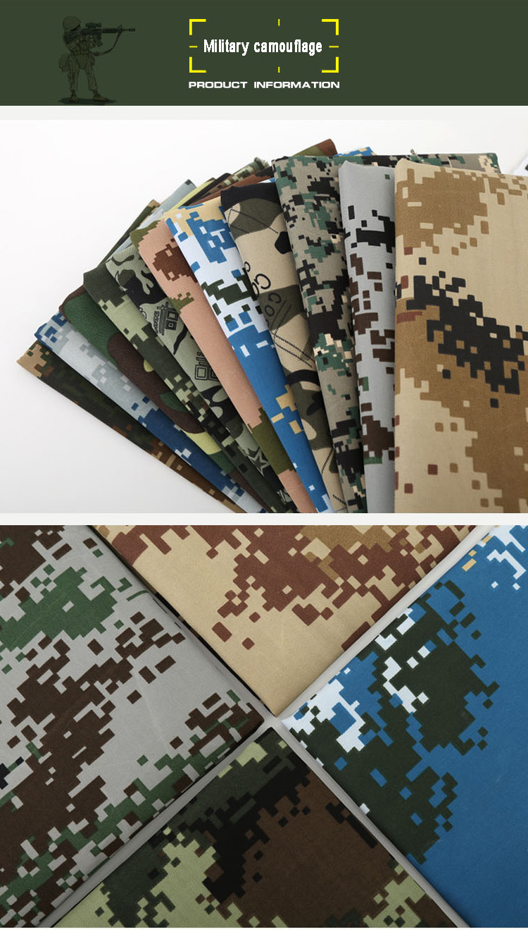 Lesen Textile 100% polyester camouflage waterproof canvas fabric