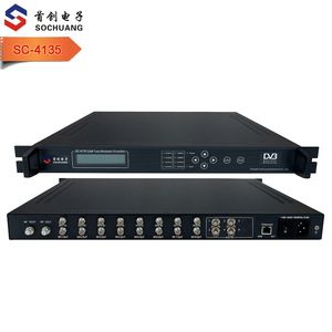 SC-4135 CATV Equipment/Digital DVB Broadcast/DVB Transmodulator/8 Transponders to 4 QAM multiplexer scrambler trans-modulator
